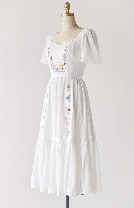 Embroidered Gardens Dress
