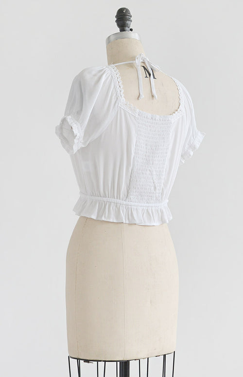 Wind in Bower Top - Feminine & Timeless Dresses & Clothing - Adored Vintage Boutique