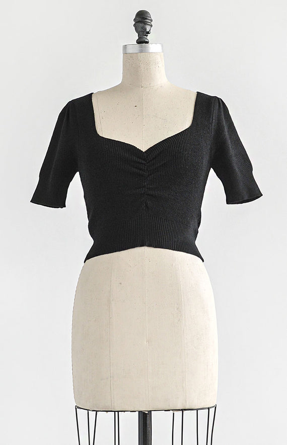 Norma Top - Black - Feminine & Timeless Dresses & Clothing - Adored Vintage Boutique