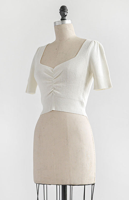 Norma Top - White - Feminine & Timeless Dresses & Clothing - Adored Vintage Boutique