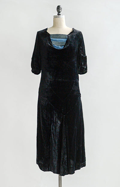 Vintage 1920s Dress / Vintage 20s Flapper Dress / Minor Chords Dress