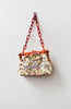 Bloom Variation Bag / vintage 1940s bag / 40s tapestry floral purse