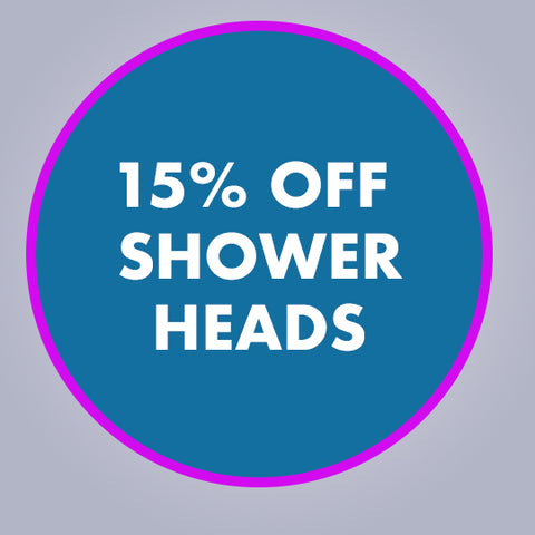 15% off showerheads