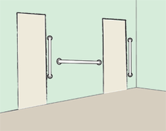 Suggested Grab Bar Installation Configurations Door
