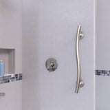 Wave Grab Bar Brushed Nickel - Grab-Bar.com