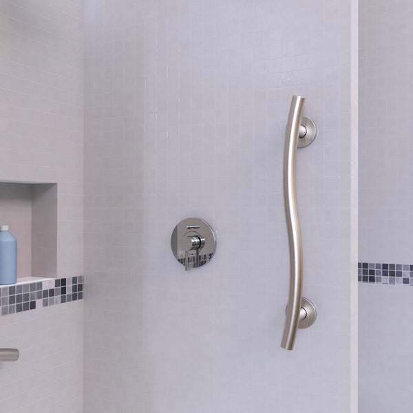 Wave Grab Bar Brushed Nickel Grabdashbar
