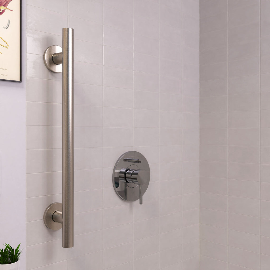 Infinity Straight Grab Bar Brushed Nickel - Grab-Bar.com