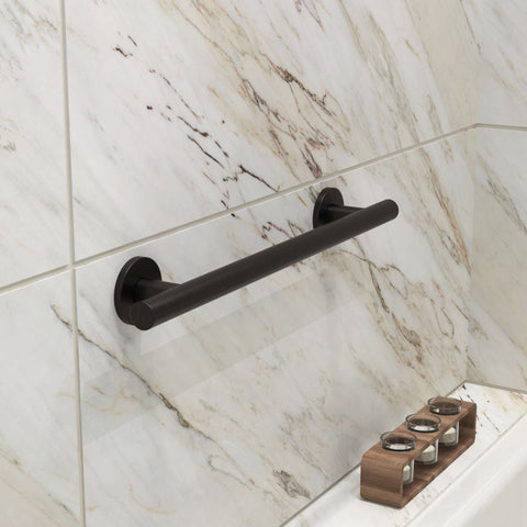 Infinity Oil Rubbed Bronze Straight Designer Grab Bar - Grab-Bar.com