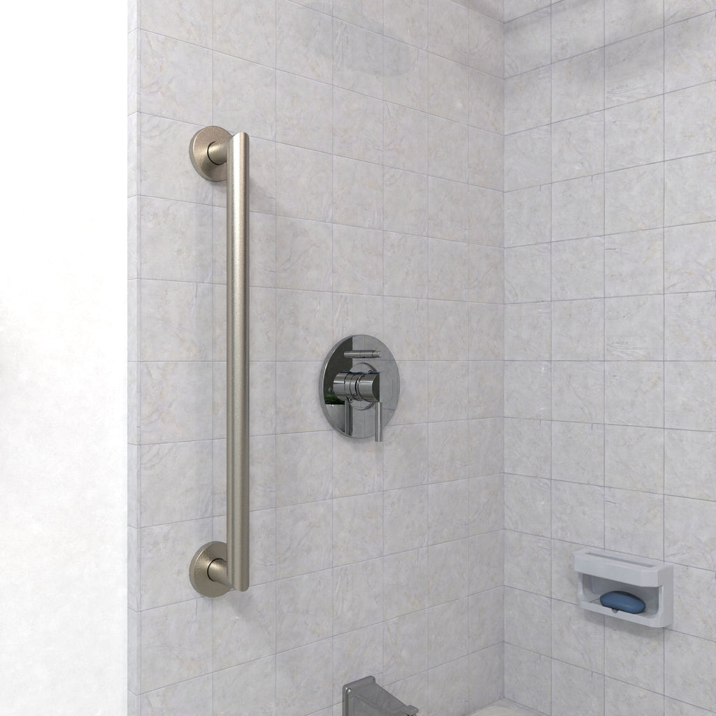 Architectural Straight Grab Bar Brushed Nickel Grabdashbar