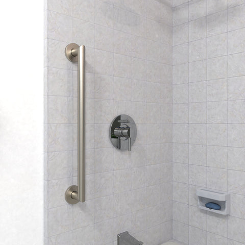 Architectural Straight Grab Bar Brushed Nickel - Grab-Bar.com