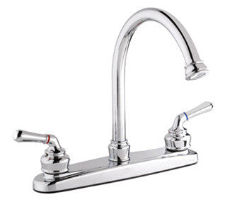 High Arc Kitchen Faucet with Dual Handles - Grab-Bar.com