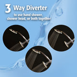 3 Function: 3 Way Shower Head Kit, Polished Chrome