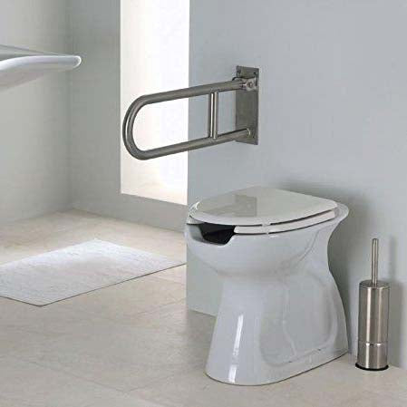 23 5/8 in Satin Stainless Steel Folding Grab bar G55JCS12 - Grab-Bar.com