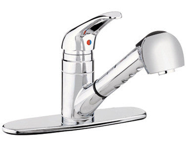 Belanger Kitchen Sink Faucet with Pull-Out Spout - Grab-Bar.com