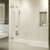 Decorative ADA Shower Kit with 5 Function Hand Shower, Chrome - Grab-Bar.com