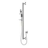Designer 36in Grab Bar Shower Kit with 5 Function Hand Shower, Chrome - Grab-Bar.com