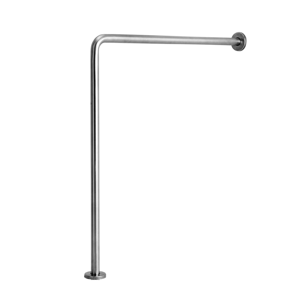 Stainless Steel Floor to Wall Grab Bar - Grab-Bar.com