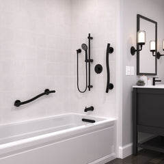 Wave Grab Bar Matte Black