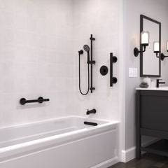 Infinity Matte Black Straight Designer Grab Bar