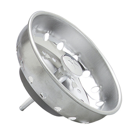 Replacement Fixed Post Strainer Basket, Stainless Steel - Grab-Bar.com