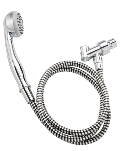 Single Function Handheld Shower Kit, 2.8 Round, Polished Chrome - Grab-Bar.com