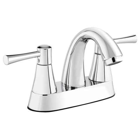 Belanger Bathroom Sink Faucet with Dual Lever Controls and Lift Rod - Grab-Bar.com