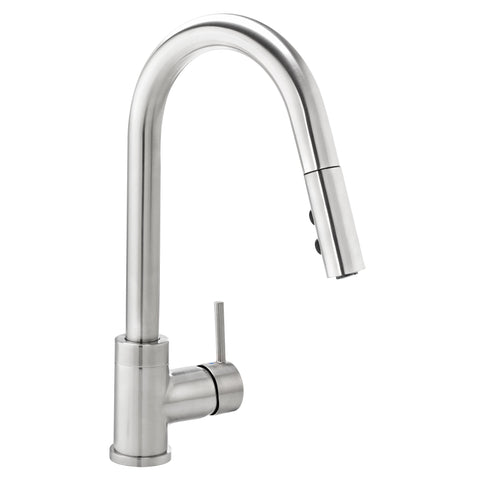 Belanger Slim Kitchen Sink Faucet with Swivel Pull-Down Spout - Grab-Bar.com