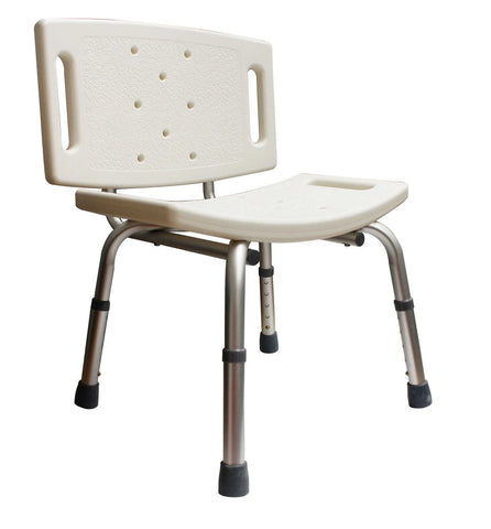 Bathroom Safety Shower Tub Chair With Back - Grab-Bar.com