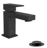 Belanger Black Matte Single Handle Bathroom Faucet - Grab-Bar.com