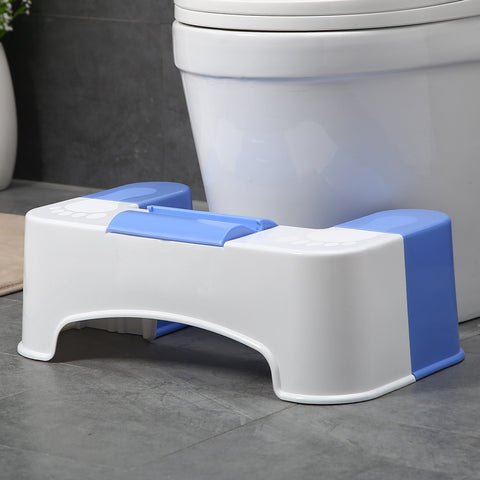 "7"" BATHROOM TOILET STOOL AID WITH TISSUE HOLDER AND CELL PHONE HOLDER"