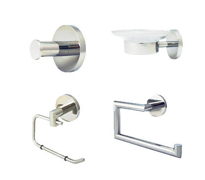 Architectural Bathroom Decor Bundle (Polished Chrome) - Grab-Bar.com