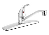 "Polished Chrome Kitchen Sink Faucet with 8"" Swivel Spout. - Grab-Bar.com"