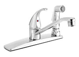 "Low Arc Kitchen Sink Faucet with 8"" Swivel Spout and Integrated Hand Spray - Grab-Bar.com"