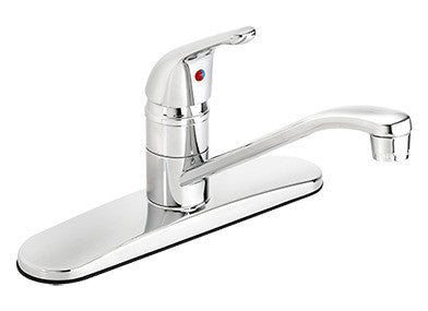Low Arc Kitchen Faucet with Swivel Spout and Knob - Grab-Bar.com