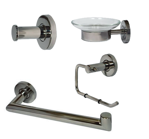 Infinity Bathroom Decor Bundle (Brushed Nickel) - Grab-Bar.com