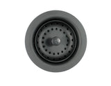 Kitchen Sink Strainer with Fixed Post Basket, Black