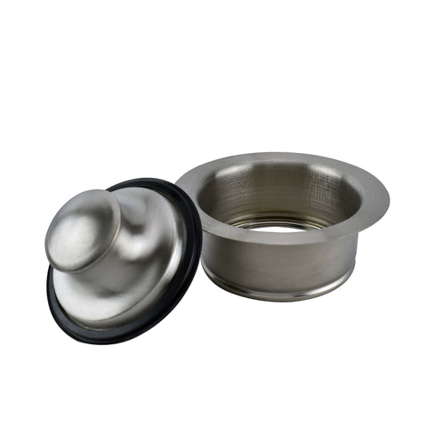 Garbage Disposal Stopper and Flange, Brushed Nickel