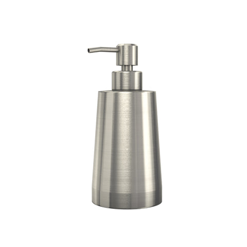Premium Countertop Soap or Lotion Dispenser with Large Capacity Bottle, Brushed Nickel