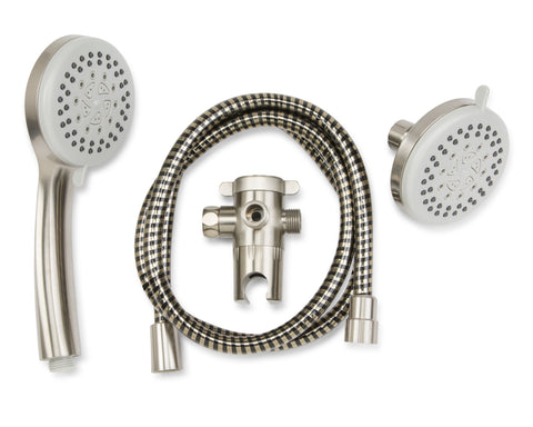 5 Function: 3 Way Shower Head Kit, Brushed Nickel - Grab-Bar.com