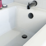 Foot Lok Stop Bathtub Drain Trim Kit, Matte Black