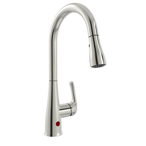 Belanger Single Handle Touchless Pull-Down Kitchen Faucet, Brushed Nickel