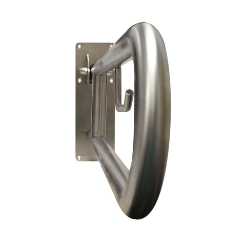 Universal Swing Away Stainless Steel Grab Bar With Built