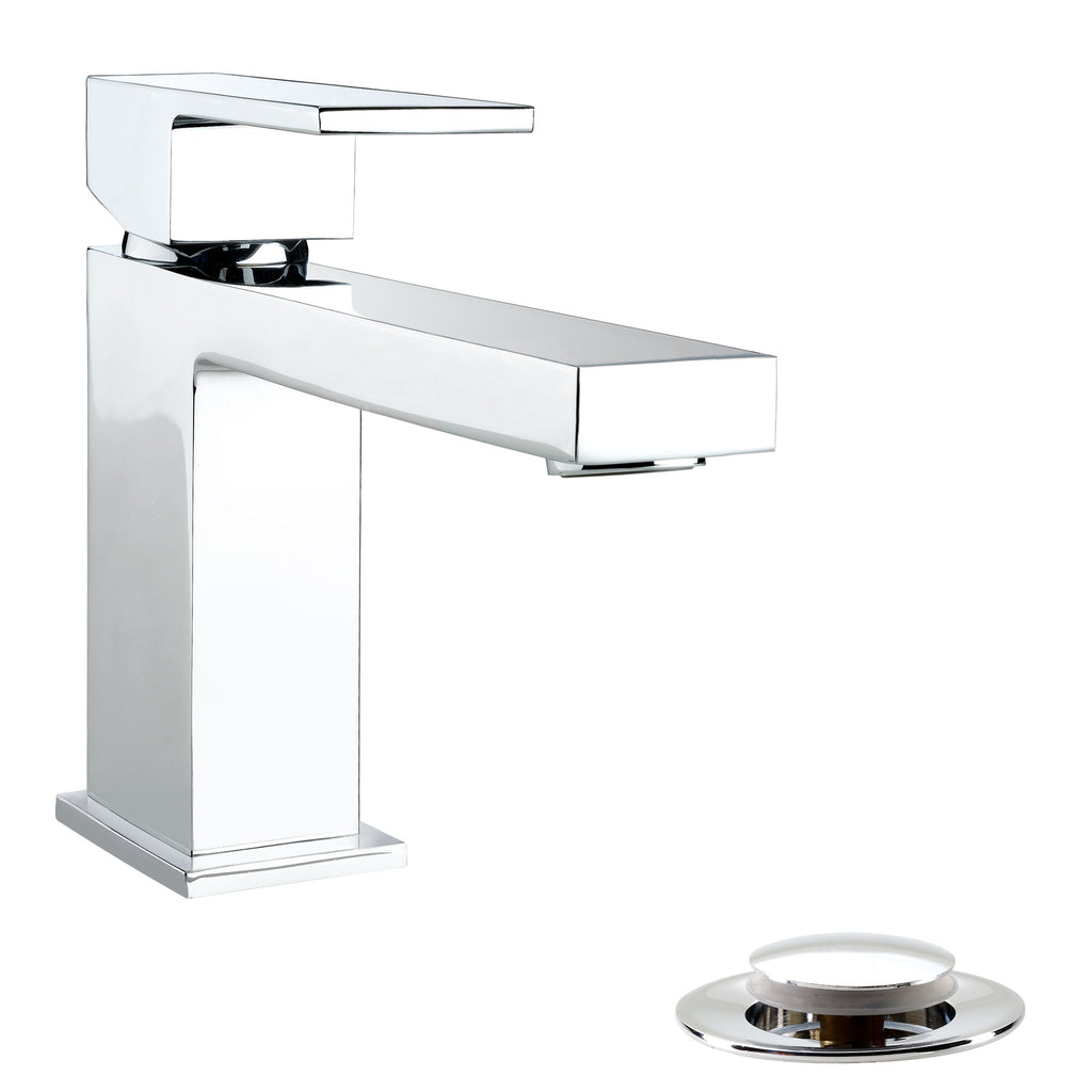 Belanger Single Handle Bathroom Faucet with Drain, Polished Chrome