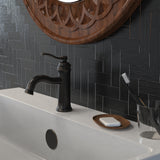 Belanger Single Handle Bathroom Faucet with Drain, Oil Rubbed Bronze