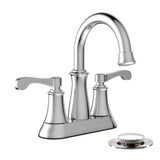 Belanger Dual Handle Bathroom Faucet with Pop-Up Drain, Polished Chrome
