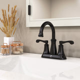 Belanger Dual Handle Bathroom Faucet with Pop-Up Drain, Oil Rubbed Bronze