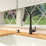 Belanger Single Handle Pull-Down Kitchen Faucet, Oil Rubbed Bronze