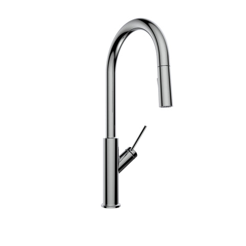Belanger Single Handle Pull-Down Kitchen Faucet, Stainless Steel