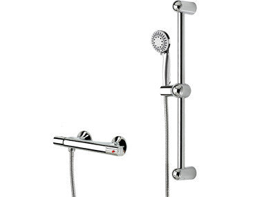 Belanger Thermostatic Valve with Hand Shower Sliding Bar Kit - Grab-Bar.com