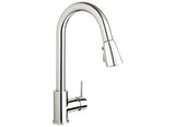 Belanger High Arc Kitchen Sink Faucet with Pull-Down Swivel Spout, Pause Button, Push-Button Diverter - Grab-Bar.com